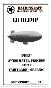 Decaf, Swiss Water Process, Peru, L8, 8 ounce