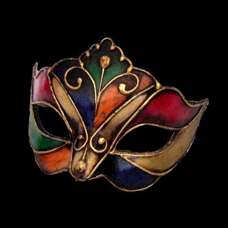Colombina Harlequin Dona Venetian Mask Multicoloured