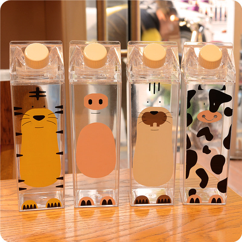 Super Cute Milk Carton Style Bottle - 500ml