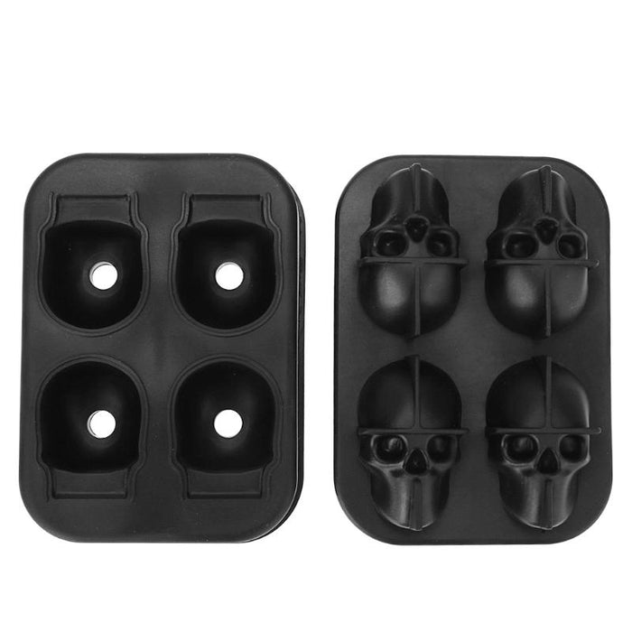 3D Skull Silicone Mould - Ice Tray
