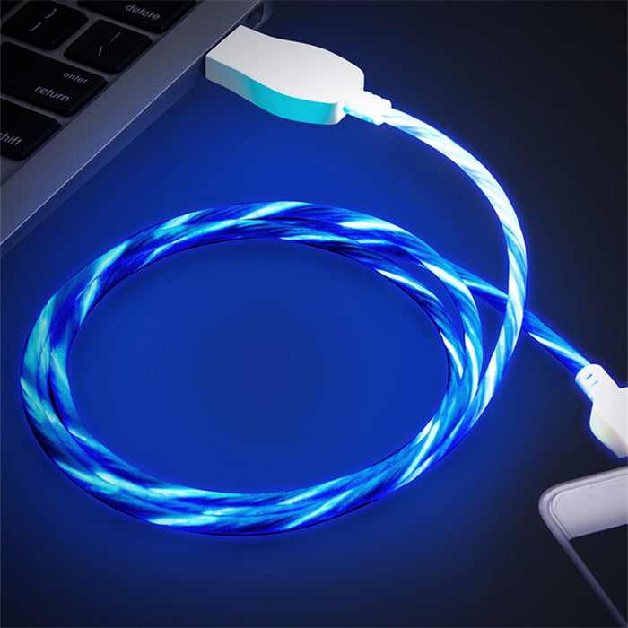 USB Charger Cable - Flowing Current LED