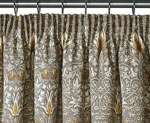 Pair of William Morris Snakeshead Lined Curtains - 3 sizes