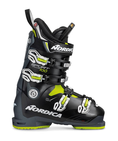 Nordica Sportmachine 100 Anthracite Black Lime Ski Boots