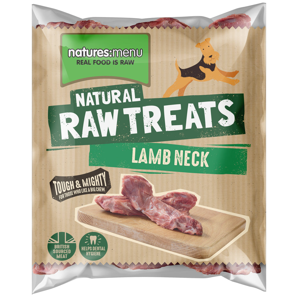 Natures Menu Lamb Neck Dog Food - Frozen Natures Menu