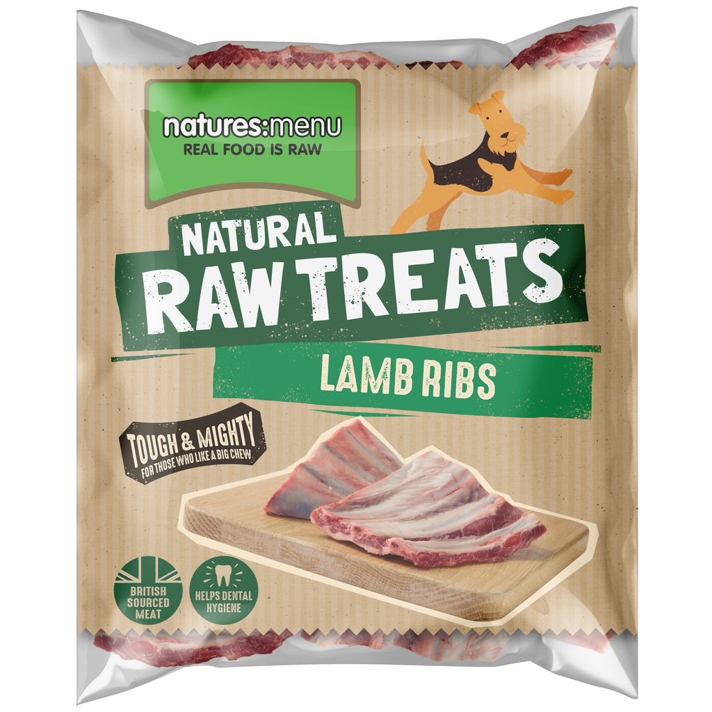 Natures Menu Lamb Ribs Dog Food - Frozen Natures Menu