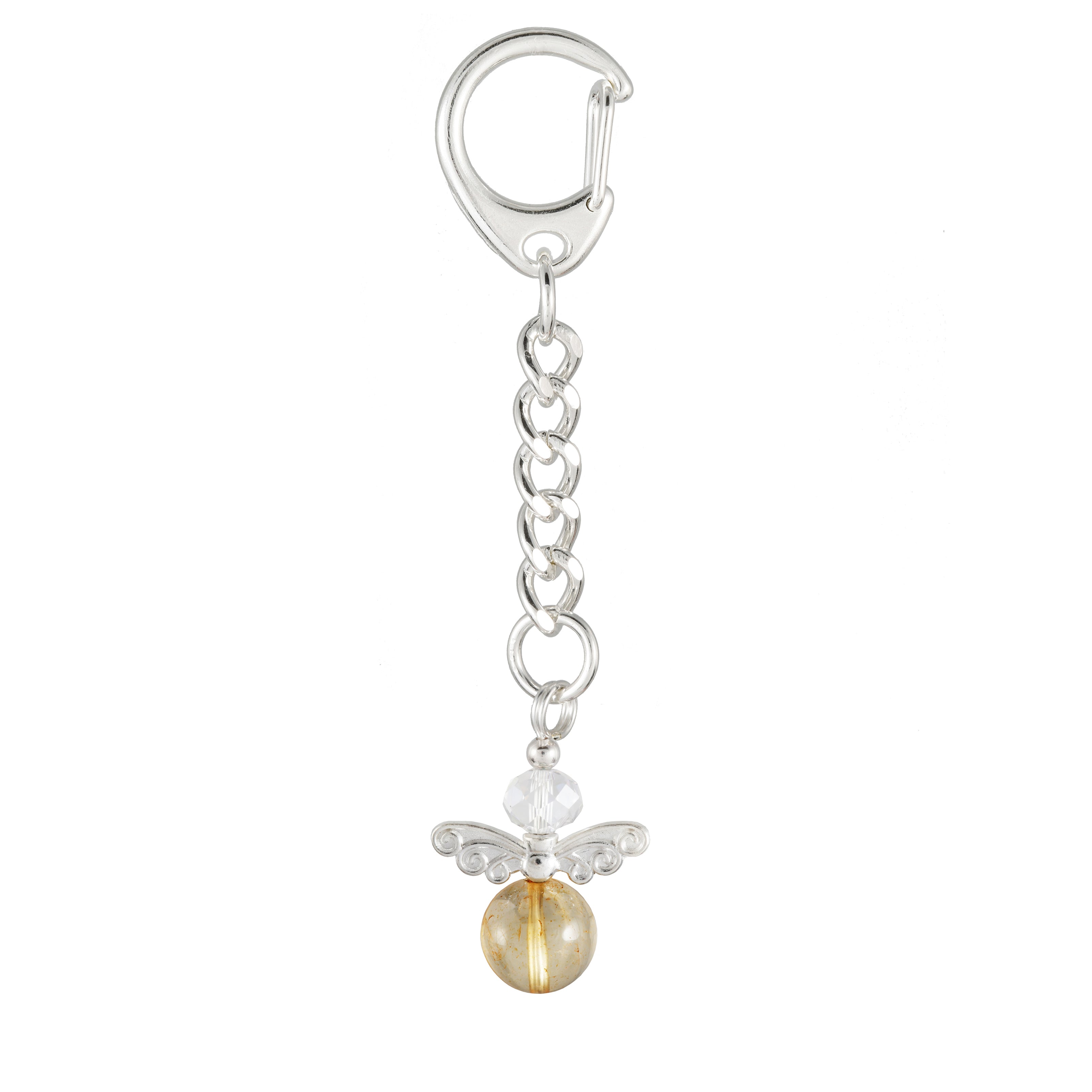 Citrine Yellow Angel Keyring- Handbag Charm