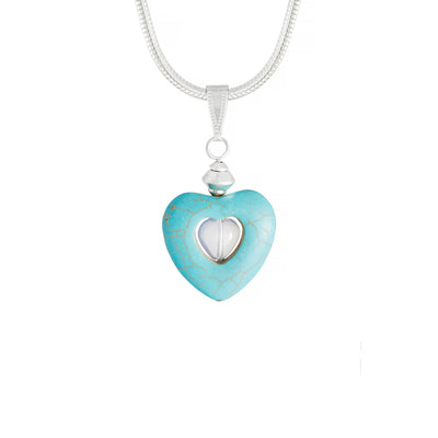 Turquoise Magnesite Heart Necklace