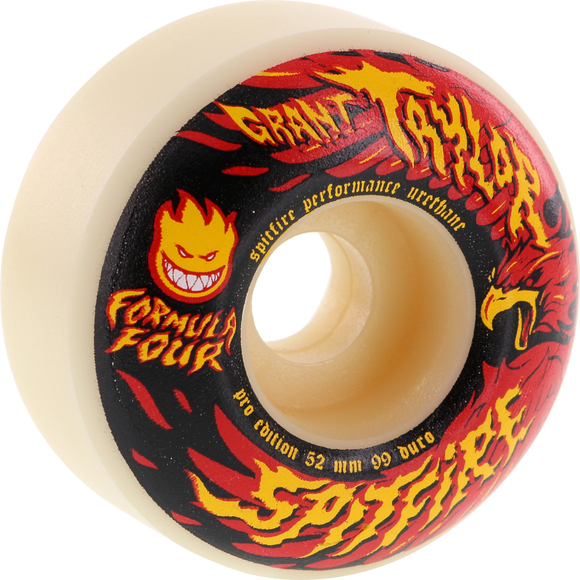 Spitfire G.Taylor F4 Resurgens 52mm White Skateboard Wheels (Set of 4)