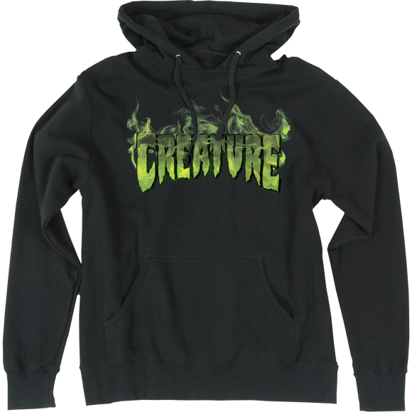 Creature Inferno Hooded Sweatshirt - LARGE Black | Universo Extremo Boards Skate & Surf