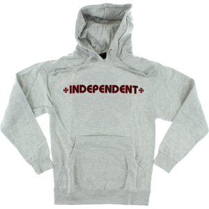 Independent Bar/Cross Hooded Sweatshirt - LARGE Heather Grey | Universo Extremo Boards Skate & Surf