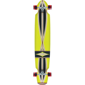 Gravity Ed Economy Complete Longboard - 10x55/38.25wb Yellow/Black | Universo Extremo Boards Skate & Surf