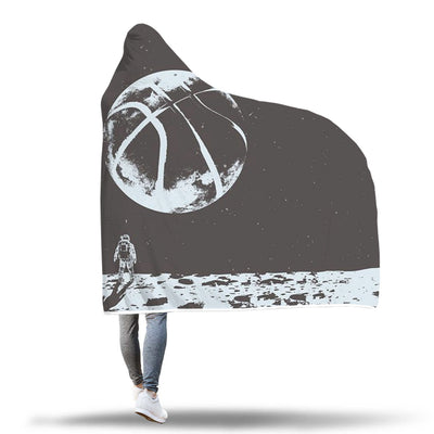 Basketball to the Moon Hooded Blanket - Free shipping for 24hrs only
