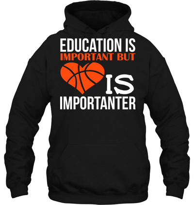 Education is important but Basketball is importanter T shirt