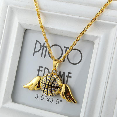 Basketball with wings Necklace