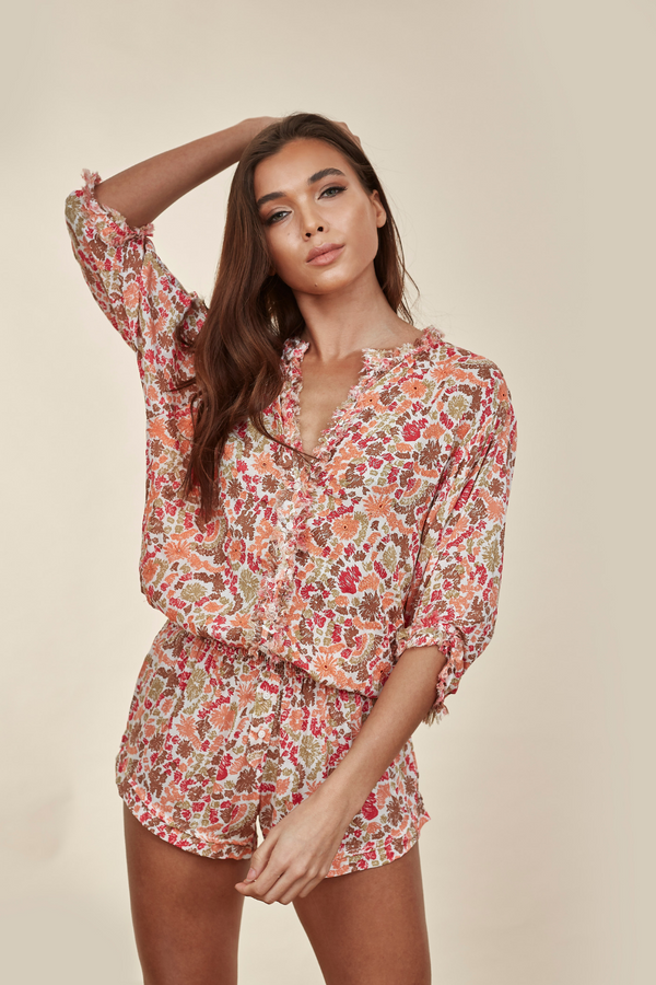 Ilona Broderie Pink Yvonne Playsuit