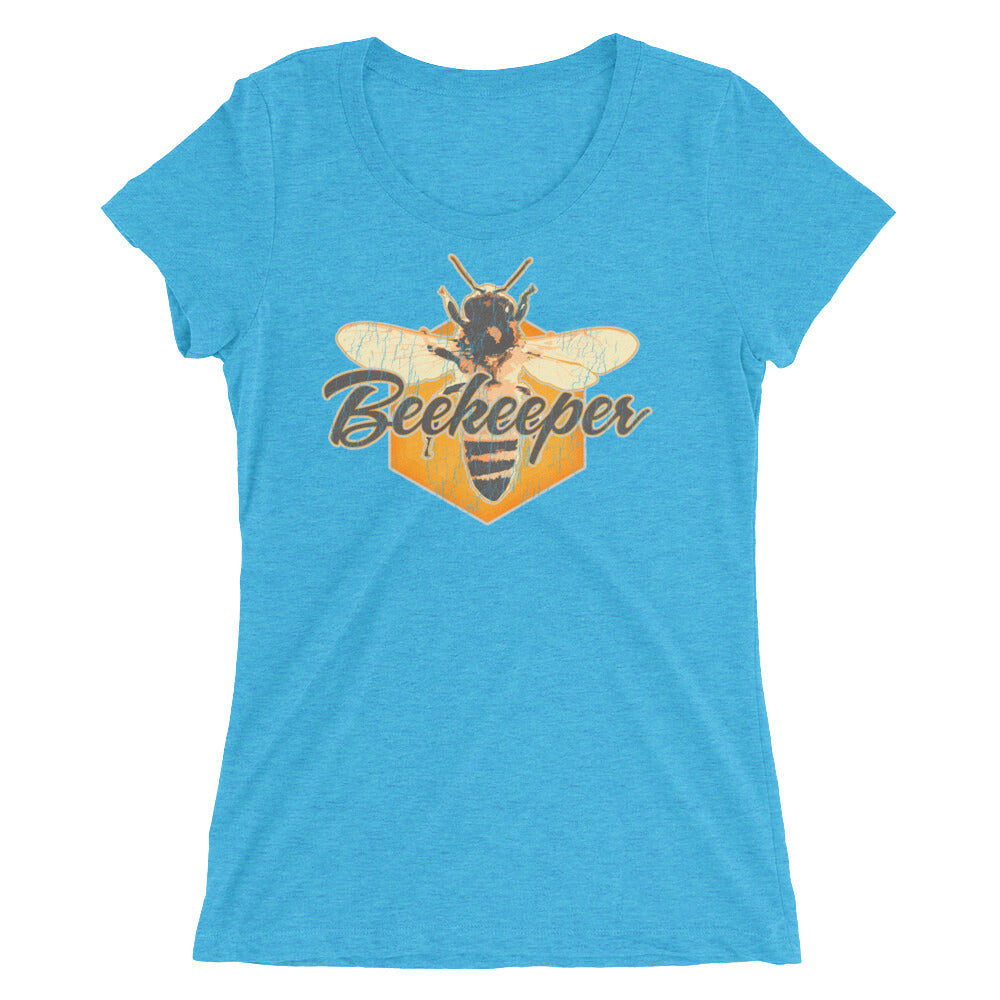 Beekeeper Shirt, Beekeepers Ladies T Shirt, Honeybee Shirt Distressed Vintage Look Tee