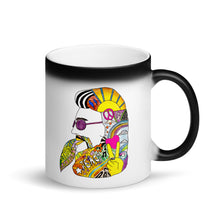 Load image into Gallery viewer, SA Matte Black Hippie Man Magic Mug