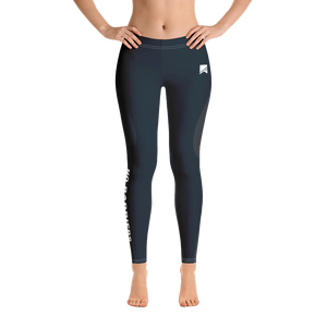 Women's Leggings - Grey/Blue - No Barriers Apparel -