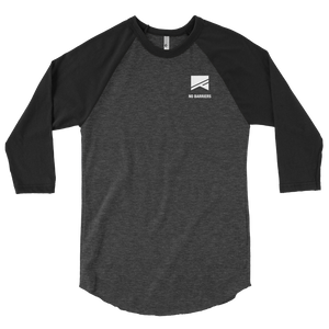 3/4 Sleeve Raglan Shirt - No Barriers Apparel - Heather Black/Black / XS