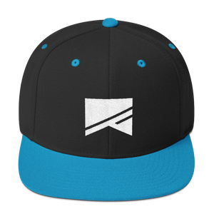 Snapback Hat - 19 Colors! - No Barriers Hats - Black/ Teal