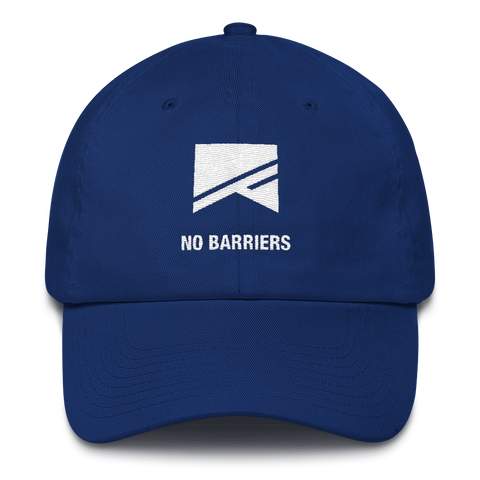 Cotton Ballcap - 10 Colors! - No Barriers Hats - Royal Blue