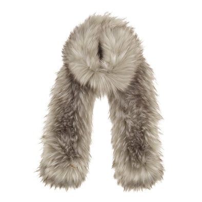 Accessories Premium Grey Faux Fur Scarf from Pretty You London