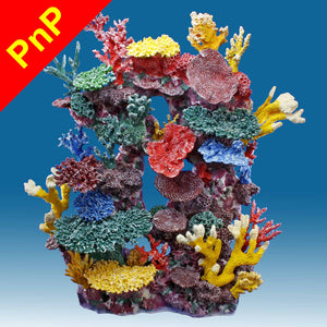 DM044PNP Tall Reef Fish Tank Decoration for Saltwater Aquariums