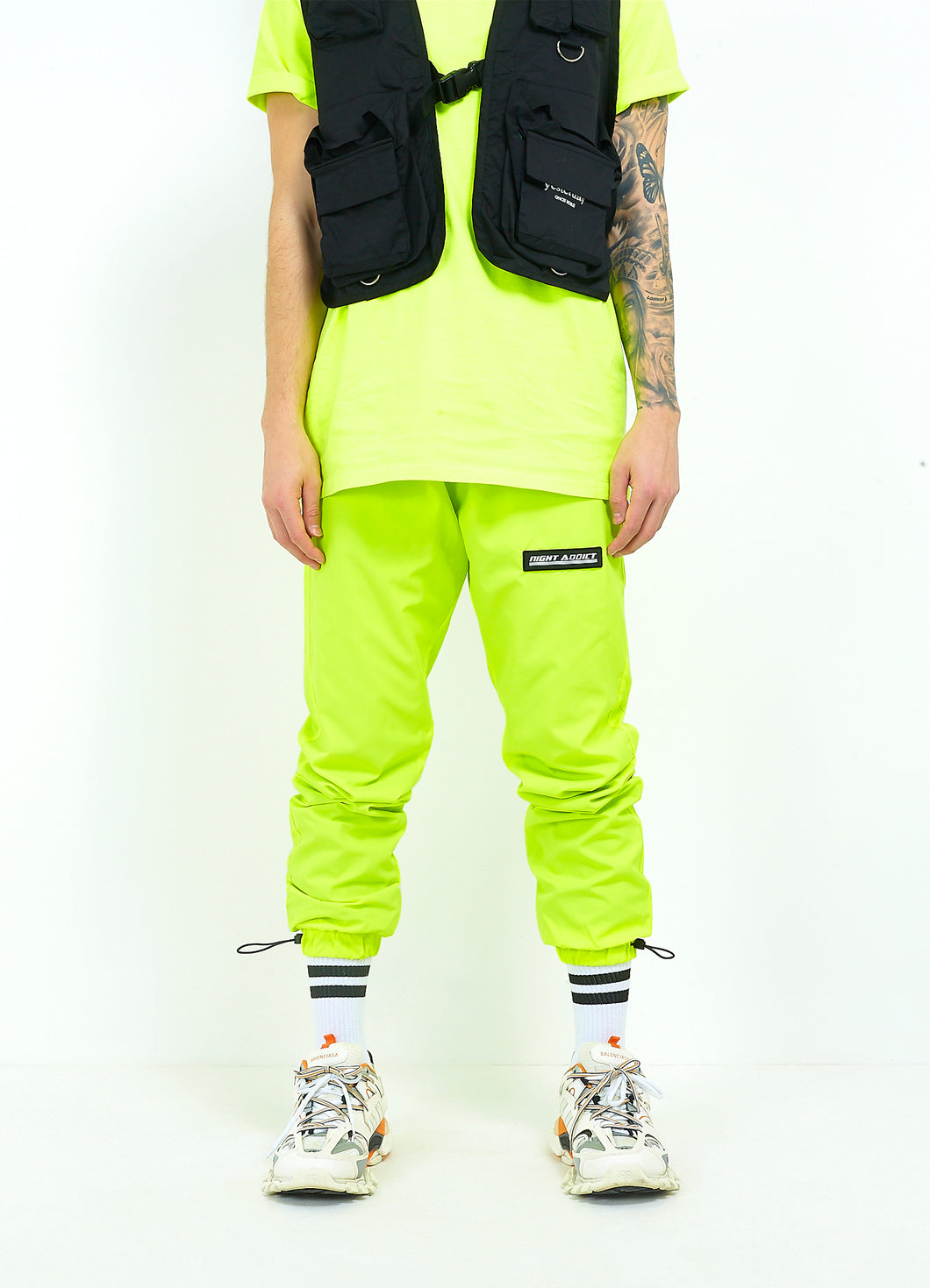 NEON TRACK BOTTOMS - YELLOW