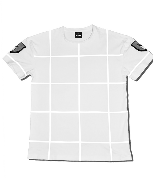 MARE REFLECTIVE GRID TEE - WHITE streetwear