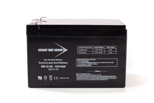 Bright Way Group BW 12140 - F2 - 12V 14AH SLA Battery