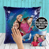 Custom Photo Sequin Pillow Cases