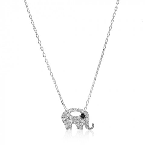 Minimalist Elephant Necklace - -