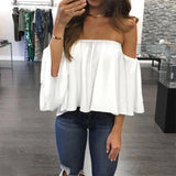 Hals Off Shoulder Top