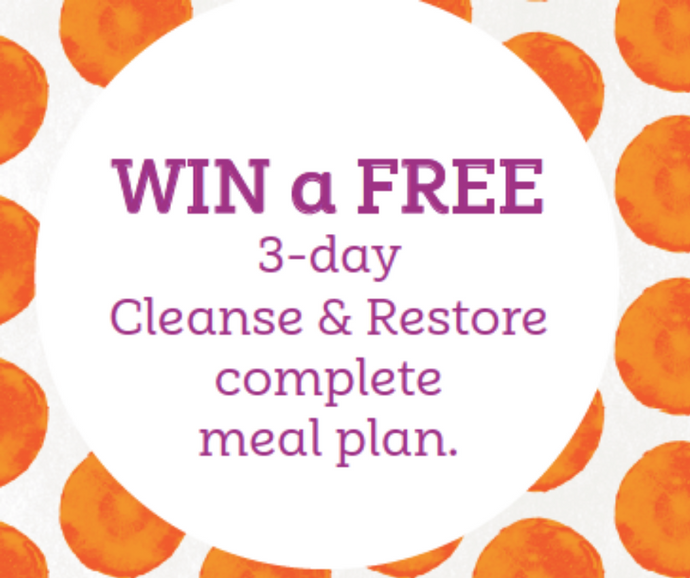 WIN a 3-day Cleanse & Restore complete meal plan