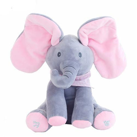 Cupofdeals kids pink and gray Peek-A-Boo Interactive Plush