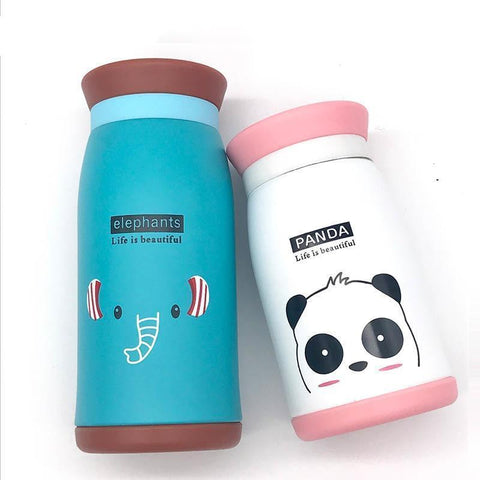 Cupofdeals thermos mug 250ML / White AKKOKI Cartoon Thermos Cup