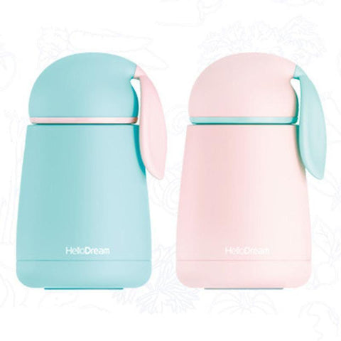 Cupofdeals thermos mug 300ml / Blue HelloDream Rabbit Thermos Cup