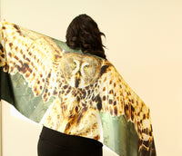 Owl Traditional Large Scarf