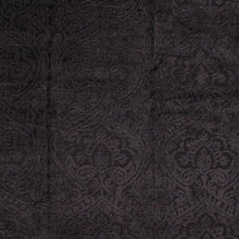 Load image into Gallery viewer, Amalfi Charcoal Black Chenille Damask Upholstery Fabric / Shadow
