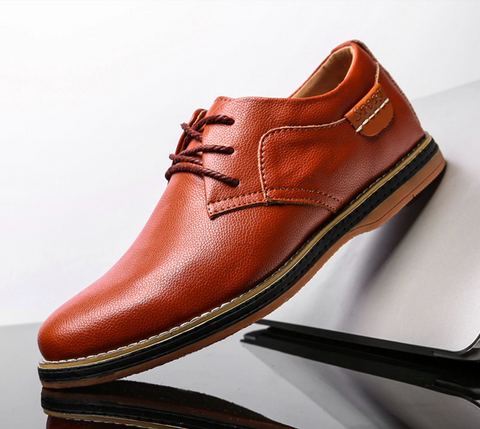 Dress leather mens shoes