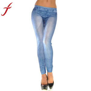 JECKSION Jeans Sweatpants Pantalones Fashion New Mid Fly None Women Leggings Skinny Solid Color Stretch Sexy Pants #LYW