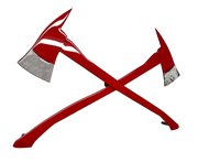 Molten Metal Sign - Crossed Fire Axes