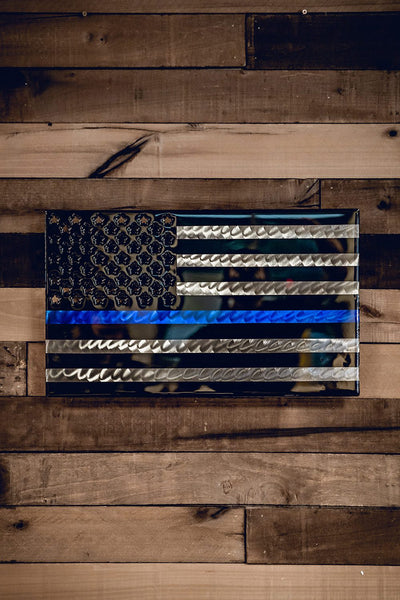 Molten Metal Sign - New Thin Blue Line