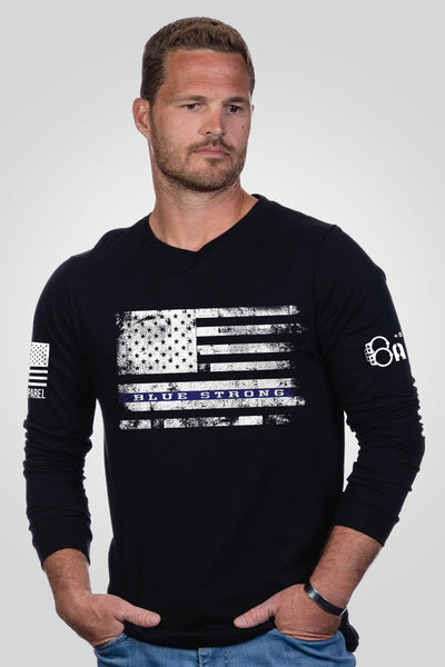 Men's Long Sleeve - Blue Strong