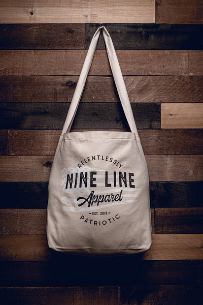 Nine Line Tote Bag