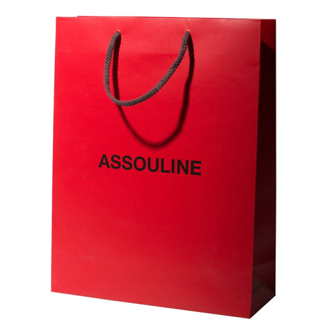Assouline Shopping Bags RED SML - Assouline