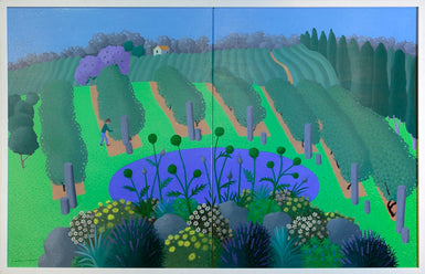 Vineyard with Flowerbead (diptych) 2008
