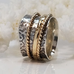Dogwood & Rope Ring