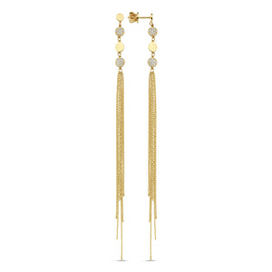 Pave Shakira Tassle Earrings