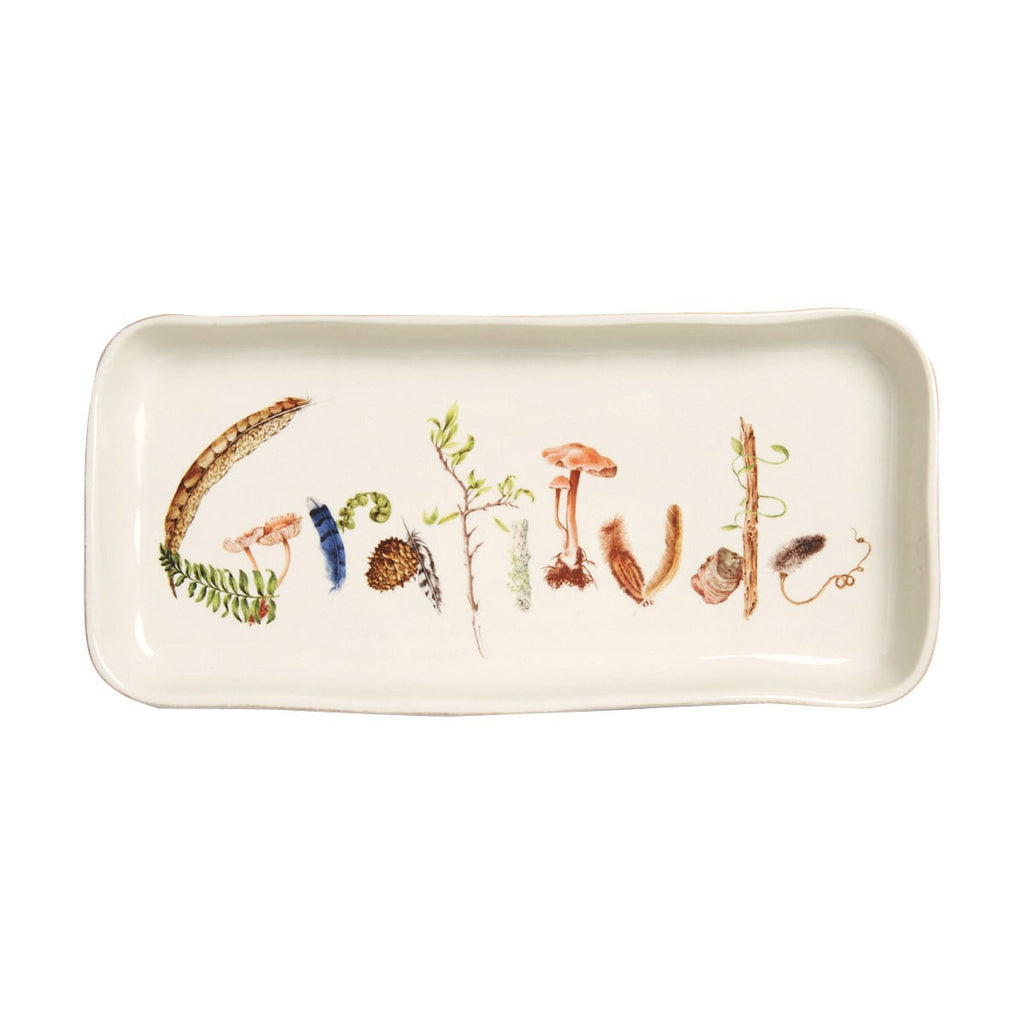 "Juliska, Forest Walk 10.5"" Gratitude Gift Tray"